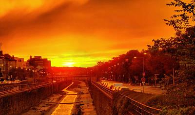 Jonny Jelinek Royalty-Free and Rights-Managed Images - Vienna Bathed In Orange Sunset Light by Jonny Jelinek