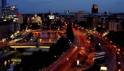 Jonny Jelinek Royalty-Free and Rights-Managed Images - Vienna - City Night Lights by Jonny Jelinek