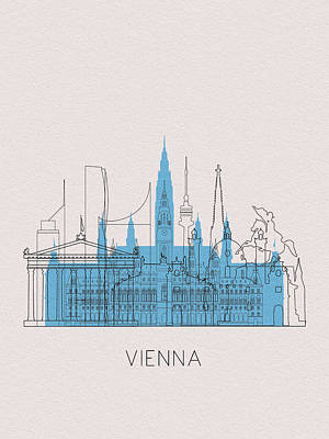 Digital Art - Vienna Landmarks by Inspirowl Design