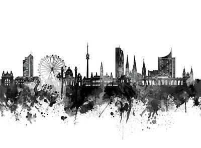 Abstract Skyline Royalty-Free and Rights-Managed Images - Vienna Skyline Bw by Bekim M