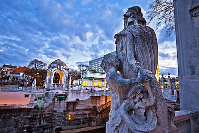 Pop Art Rights Managed Images - Vienna Stadtpark monumental architecture dusk view Royalty-Free Image by Brch Photography