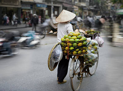 Photograph - Vietnam, Hanoi, Old Quarter, Person by Ed Freeman