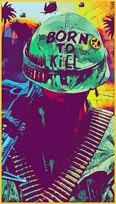 Digital Art - Vietnam Soldier by Gary Grayson