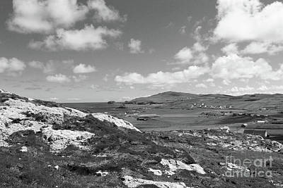 Animal Paintings David Stribbling - View at Malin Head Donegal bw by Eddie Barron
