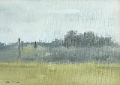 Painting - View At South River Vineyard by Curtis Green