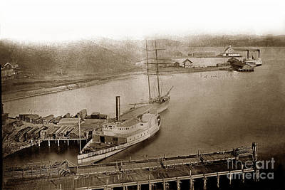 Photograph - View At South Vallejo Steam Boat Landing With Side Wheeler Sacra by California Views Archives Mr Pat Hathaway Archives
