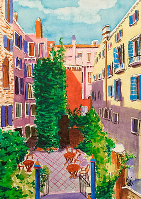 Painting - View from a Room in Venice by Monika Arturi