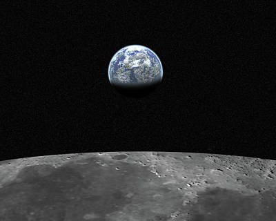 Photograph - View From Moon 2 20 Mega Pixel by Drrave