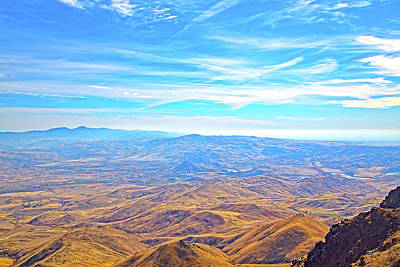 Photograph - View From Squaw Butte, Id by Dart and Suze Humeston