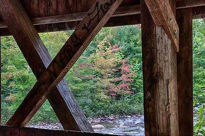 Photograph - View From The Albany Covered Bridge by Jeff Folger