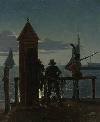 Painting - View From The Citadel Ramparts In Copenhagen By Moonlight by Martinus Rorbye