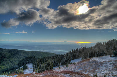 Photograph - View From The Mountain by Ross G Strachan