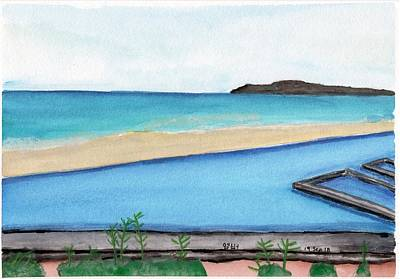 Painting - View From The Resort by Amber Nicole