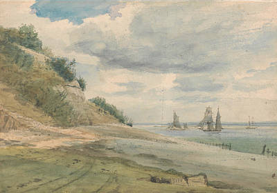 Drawing - View Near Walton On Naze by Lionel Constable