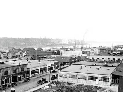 Photograph - View Nw Over Olympia From Elks Building On Capitol Way 1929 by Vibert Jeffers