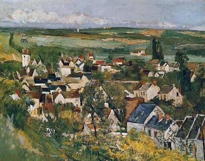 1-war Is Hell Royalty Free Images - View of Auverssur Oise 1873 Royalty-Free Image by Paul Cezanne Paintings