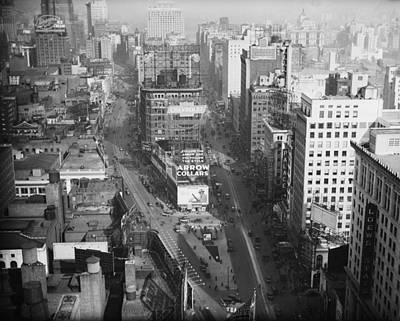Photograph - View Of Broadway Near Times Square, 1920 by Bettmann