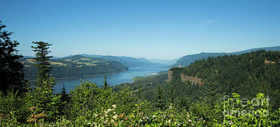 Photograph - View Of Columbia River And Vista House by Charmian Vistaunet