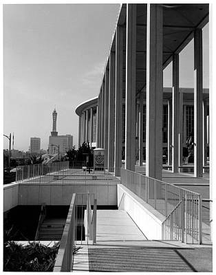 Music Photograph - View Of Downtown Los Angeles From Music by American Stock Archive