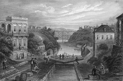 View Of Erie Canal Art Print by Kean Collection