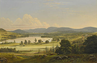 Painting - View Of Lakeville Connecticut And Governor Holly Mansion by Edward Nichols