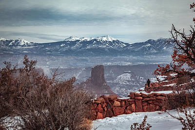 Photograph - View Of La Sal Mountains From Dead Horse Point by Jeanette Fellows