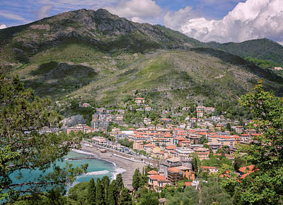 Wall Art - Photograph - View Of Levanto Cinque Terre Italy by Joan Carroll