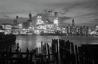 Photograph - View Of Manhattan Skyline From Brooklyn by Bettmann