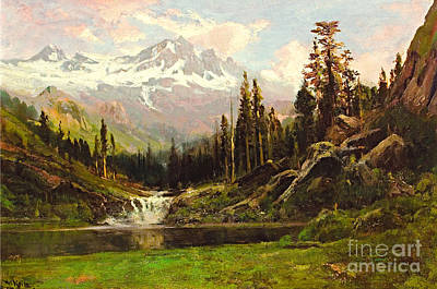 Painting - View Of Mt Shasta by William Keith