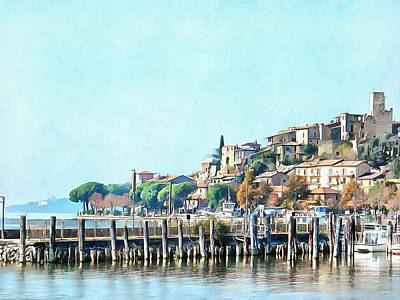 Photograph - View Of Passignano Sul Trasimeno  by Dorothy Berry-Lound