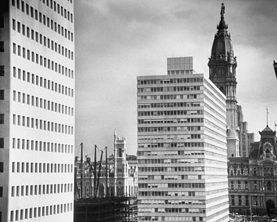 Photograph - View Of Pennsylvania Center Plaza C & by Margaret Bourke-white