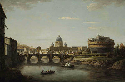 Painting - View Of Rome With Saint Peter's by William Marlow