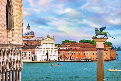 Photograph - View Of San Giorgio Maggiore by Carolyn Derstine