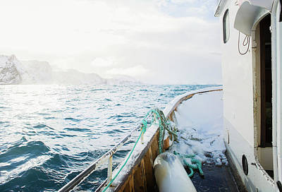 Photograph - View Of Sea From Fishing Boat by Johner Images
