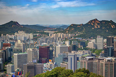 Photograph - View Of Seoul From Namsan Park by Rick Berk