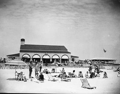 Photograph - View Of Southampton Beach Club With by Bert Morgan