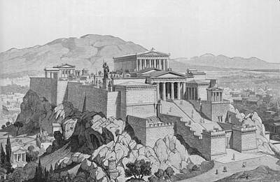 View Of The Acropolis Art Print by Kean Collection