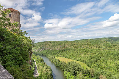 Photograph - View Of The Aveyron River From The Chateau De Bruniquel by W Chris Fooshee