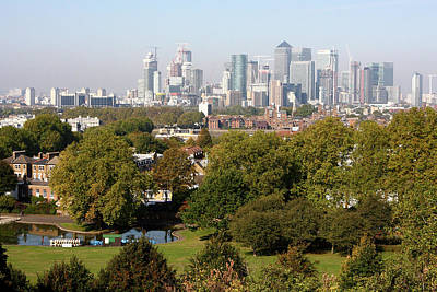 Photograph -  City Of London From Greenwich Hill by Aidan Moran