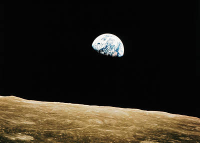 Photograph - View Of The Earth Rising by Bettmann