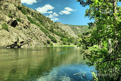 Western Art - View of the gunnison river  by Jeff Swan