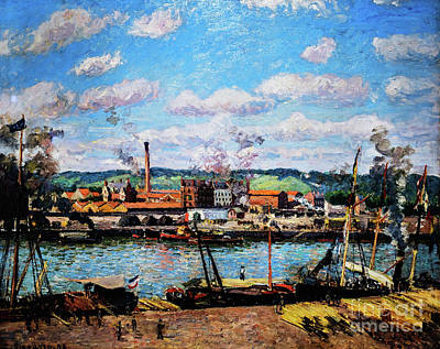 Painting - View Of The Oissel Cotton Mill Near Rouen by Camille Pissarro