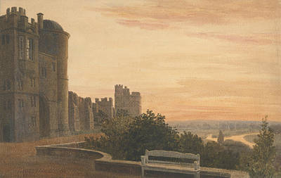 Drawing - View Of The Terrace At Windsor by Peter De Wint