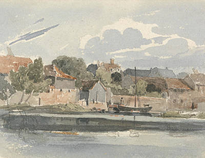 Drawing - View Of The Thames At Kingston by Peter De Wint