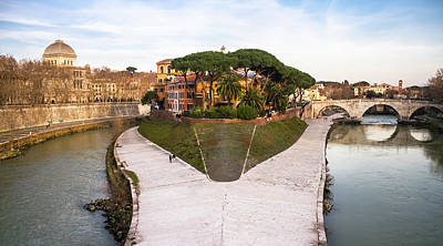 Tiber Island Wall Art - Photograph - View Of The Tiber Island Isola Tiberina, Rome by Cristiano Gala