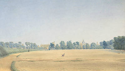 Drawing - View Of University Park Looking Towards New College, Oxford by William Turner of Oxford