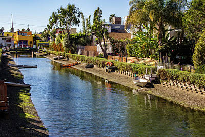 Wall Art - Photograph - View Of Venice Canals by Roslyn Wilkins