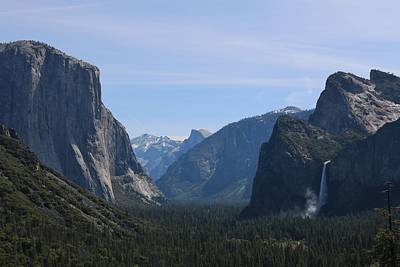 Photograph - View Of Yosemite Valley  by Christy Pooschke