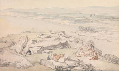 Drawing - View On Exmoor by Thomas Rowlandson