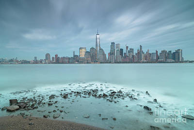 Photograph - View On Finance District In Manhattan From Hudson River  by Andriy Stefanyshyn
